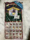 1995 Pockets of Learning Cloth Nativity Advent Calendar Fabric Figures COMPLETE