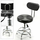 Garage Swivel Work Shop Stool Hydraulic Chair with Backrest Height Adjustable US