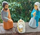 Vintage EMPIRE Set of 3 Blow Mold NATIVITY Mary Joseph Baby Jesus 17 Tabletop