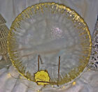 4 Artistic Accent Christmas Holiday Gold Trim Glass Scalloped Charger Plates 13