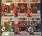 Funko Pop! Marvel Deadpool Lot Of 6 Exclusives