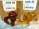 Lot of 2 Fenton Glass Pigs Buttercup  Autumn Gold Hand Painted Floral new