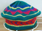 English Village Acrylic Winter Knit Hat '60s or '70s Vintage