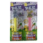 Happy Easter PEZ Set of 2 Bunny Candy Dispensers Seasonal Vanilla Cupcake Flavor