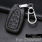 5 Buttons Fob Bag Holder Leather Remote Car Key Cover Case For Chevrolet Equinox