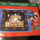 Wood  Magnetic Christmas Nativity Advent Calendar J3767 24 Days Of Advent