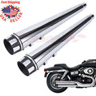 4 Slip On Mufflers Exhaust Pipes End Caps For Harley Touring Model Glide 05 16