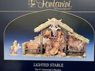 Fontanini 5 Centennial Collection Lighted Stable Nativity Set w Figures Roman