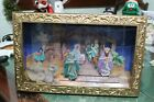 Unique Animated Music Box Wall Or Tabletop Mounted Nativity Set working