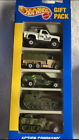 RARE Hot Wheels Gift Pack Action Command 5 Vehicles