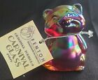 Fenton Raccoon Red Ruby Carnival Figurine Amberina Undecorated Rare Autumn