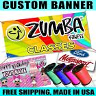 Printed Full Color Custom Banner Sign Grommets Or Hems Outdoors Indoor Fitness 1