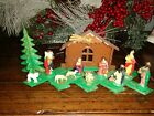 Vintage Christmas Plastic Expandable Miniature Nativity Set Hong Kong 204