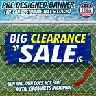 Big Clearance Sale Advertising Vinyl Banner Flag Sign Many Sizes USA Business