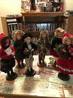 Christmas Carolers figurines statues Lot Byers Choice Style Read Description