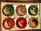 Very Old Bradford Imported Glass Christmas Ornaments