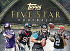 2014 Topps Five Star Football Cards Hobby Box (1 Pack Box 6 Cards Per Pack