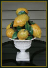 vintage Italian Majolica Lemon Tree topiary ceramic centerpiece 16 tall