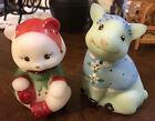 Lot Of 2 Fenton Hand painted Figurines