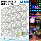 16PC Swimming Pool Light RGB LED Bulb Underwater Color Vase Decor Lights Remote