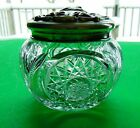 Antique Cut Glass Sterling Topped Dresser Jar