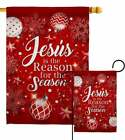 Jesus is the Reason Winter Nativity Garden Flag House flag