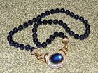 Nolan Miller Glass Bead and Rhinestone Necklace 18 Long