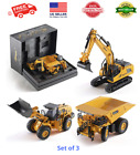 Top Race Metal Diecast Construction Toys Set of 3 Trucks Models 160 Scale NEW