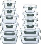 24 Piece Superior Glass Food Storage Containers Tupperware BPA Free Locking Lids