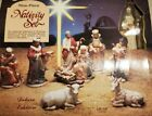 Large Vintage Nine Piece Nativity Set With Box Deluxe Collectors Edition 1993