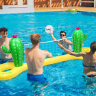 Inflatable Volleyball Game Set Floating Pool Net Water Play Summer Outdoor Toy