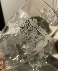 Italy ETCHED CHAMPAGNE GOBLETS GLASSES Dessert Set Of 6