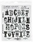 Stampers Anonymous Tim Holtz Mini Cling Rubber Stamp Set Mini Cirque Alpha