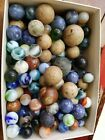 Vintage bennington clay marbles glass swirl estate find 150+ in this lot