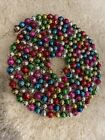 Vtg Antique Mercury Glass Feather Tree Garland Multi color Christmas 1 2 Bead