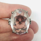 Fabulous HUGE Cut Faceted Crystal Glass Costume Ring Sz 6 Vintage Jewelry
