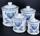 Corelle Jay Imports Blue Heart 4 piece Canister set
