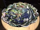 Vintage Fused Glass Psychedelic Swirl Bowl