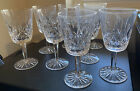WATERFORD CRYSTAL LISMORE WATER GOBLETS 6 7 8 EXCELLENT I Have 8 Glasses
