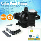 900W Solar Pool Pump Brushless DC Motor with MPPT Controller DC 72V 20000L H 19m