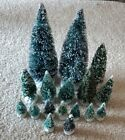 Lot Of 17 Christmas Village Accessories Trees Lemax Evergreen Size 2 1/2