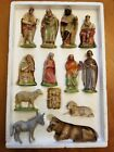 Antique Vintage Kauders Nativity Set 13 Pieces Made in Germany