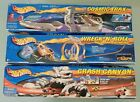 HOT WHEELS LOT OF 3 VINTAGE 2001 TRACK SETS MATTEL NEW IN BOX CRASH CANYON+