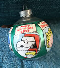 1993 Hallmark Ornament Peanuts Glass Ball - Merry Christmas Snoopy & Friends