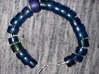 Lot of 26 Antique Vintage Small Cobalt Blue Russian Czech Bohemian Beads Old