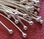 925 sterling silver ball pins jewelry findings 100 pieces 24 gauge 40mm