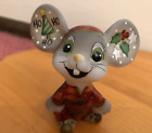 FENTON ART GLASS MOUSE SANTA GIFT SHOP EXLUSIVE 2017