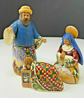 Jim Shore Christmas 3pc Nativity Set 113254 Large Joseph Mary Baby Jesus