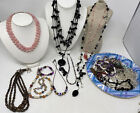Vintage Lot of Art Glass Blown Crystal Natural Stone Beads Wearable Jewelry