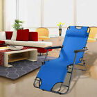 Folding Outdoor Reclining Beach Sun Patio Chaise Chair Pool Lawn Lounger Indoor